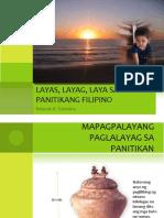 01 Layas, Layag, Laya Sa Panitikang Filipino