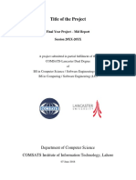 Ciit Cs Lhr Fyp i Report Template 2016-05-26