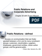 MBA 532 - Public Relations and Corporate Advertising - Chp 20