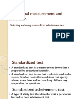Selecting and Using Standardized Achievement Test