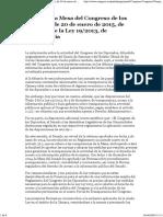 Normas de La Mesa Del Congreso de Los Diputados, De 20 de Enero de 2015, De Aplicación de La Ley 19_2013, De Transparencia