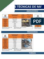 Fichas Tecnicas de Máquinarias