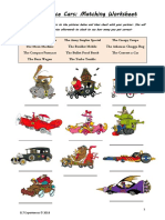 Wacky Races Worksheet (ELT Experiences)
