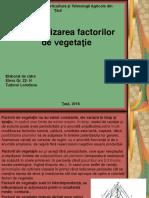 Factori de Vegetatie