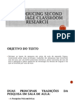 Introducing Second Language Classroom Research - SLIDES