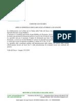 Comunicato Stampa Retuvasa 25.9.10 - Apertura Sportello Acqua Pubblica Ad Anagni