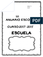 CUADERNITO DE RECUERDOS DE MI ESCUELA