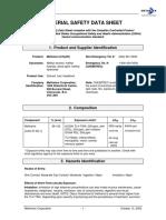 Methanol (CH3OH) MSDS Copy