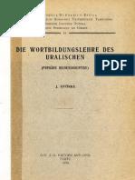 Györke 1934 - Die Wortbildungslehre Des Uralischen (Primäre Bildungssuffixe)
