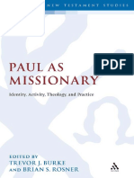 (Library of New Testament Studies Volume 420) Trevor J. Burke-Paul as Missionary_ Identity, Activity