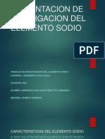 Presentacion de Investigacion Del Elemento Sodio