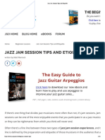 Jazz Jam Session Tips and Etiquette