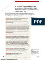 Effect of Intravesciacl Instillation of Gemcitabine vs Saline Immediatly Following Resection of Suspected Low-grade Non-muscle Invasive Bladder Cancer on Tumor Recurrence