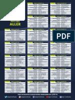 Le calendrier de la saison 2018/19 de Ligue 1