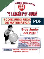 Bases Del i Concurso de Matemática-2018- Fe y Alegria