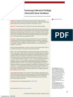 Association of Colonscopy Adenoma Findings With Long Term Colorectal Cancer Incidence