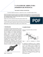 Diseño y Analisis de Arbol Para Transmision de Potencia