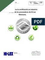 Manual Para La Certificación en Industria Limpia Rev1