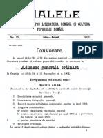 Analele Asociatiei Pentru Literatura Romana 1902