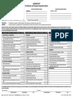 3124128 Scissor Lift Pre Delivery Inspection Report PDF