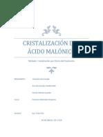 Cristalización Del Ácido Malónico