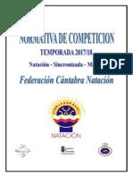 Normativa CompetIciones natacion cantabria 2017/2018