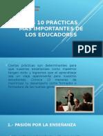 Las 10 Prácticas Más Importantes de Los Educadores