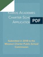 Kairos Academies Charter School Application (2018)