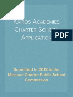 Kairos Academies Charter School Application (2018) | Project Based