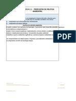 Práctica 2_Política_Obj_Indicadores y Metas ISO 14001