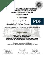 Diploma Biblia y Pastoral 2018