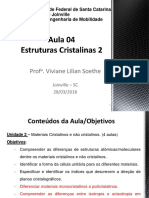 Aula 04_Estrutura Dos Sólidos Cristalinos_parte 2