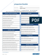 Construction Safety Inspection Checklist PDF