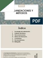 Organizaciones y Metodos
