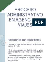 Proceso Administrativo en Agencia de Viajes