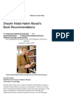 Shaykh Abdal Hakim Murad's Book Recommendations – Readings Islamic Studies