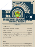 Grilled summer squash sandwiches