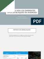 Diferentes Tipos de Bloqueo en Android - Seguridad Informática
