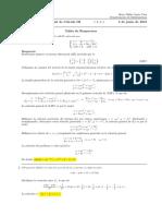 Corrección Segundo Parcial de Cálculo III, martes 5 de junio de 2018