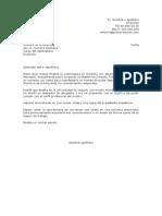 Carta de Presentacion Espontanea