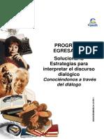 Solucionario Clase 9 CEG guía Estrategias para interpretar el discurso dialógico Conociéndonos a través del diálogo  2015.pdf