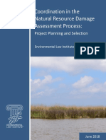 Coordination in the Natural Resource Damage Assessment Process