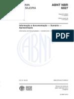 ABNT NBR 6027 2012 - Informação e documentação - Sumário - Apresentação.pdf