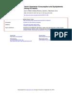Caloric Sweetener Consumption and DyslipidemiaJAMA2010