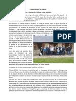 Communiqué de Presse - OUVERTURE Maison Du Pêcheur