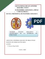 Estudio Geologico y Geodinamico