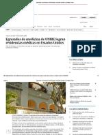 Egresados de Medicina de UNIBE Logran Residencias Médicas en Estados Unidos