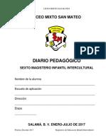 4.1 Diario Pedagógico 6o. Mag.2017 (2)