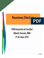 Reuniones Efectivas 21 Mayo 2016 Oftalmologos