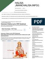 357698943 Hanuman Chalisa Lyrics PDF Download Hanuman Chalisa